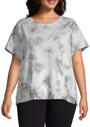 Xersion Dolman Short Sleeve Sweat Shirt - Plus