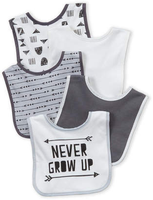 Baby Essentials Chick Pea (Newborn/Infant Boys) 5-Pack Never Grow Up Bibs