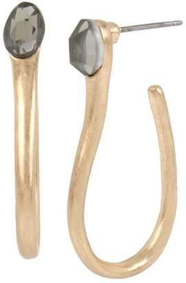 Robert Lee Morris Soho Sculptural Curved J-Hoop Earrings