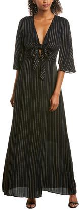 BCBGMAXAZRIA Tie-Front Wrap Dress