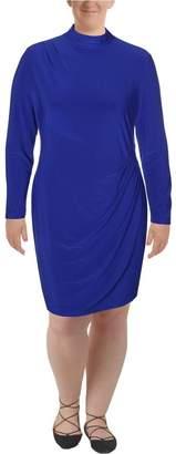 Lauren Ralph Lauren Lauren by Ralph Lauren Womens Harve Pleated Shift Evening Dress Blue