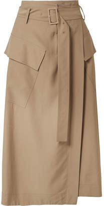 9bf815657 Vince Belted Twill Wrap Skirt - Tan
