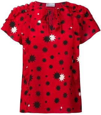RED Valentino contrast star print blouse