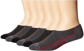 Converse Oin Stripes with Color Pop Logo 6-Pair Pack Men's No Show Socks Shoes