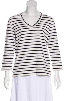 Lauren Ralph Lauren Long Sleeve Striped Knit Sweater