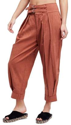 Free People Double Buckle Crop Trousers
