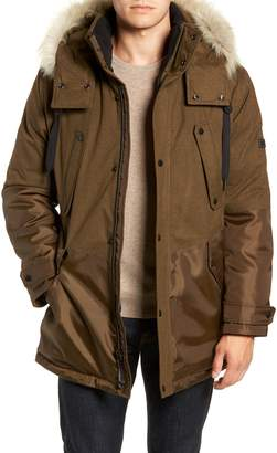 Andrew Marc Maxfield Faux Fur Trim Parka
