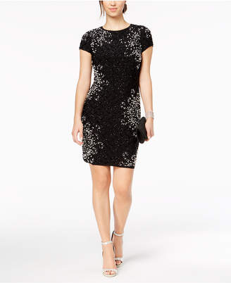 Betsy & Adam Petite Beaded T-Shirt Dress
