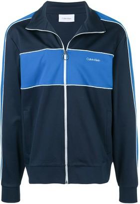 Calvin Klein logo panelled track jacket