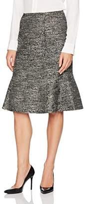 Ellen Tracy Women's Seamed Flounce Skirt