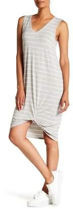 Bobeau Sleeveless Twist Bottom Midi Dress
