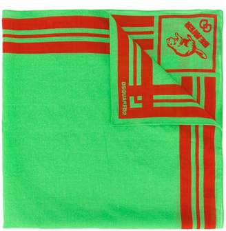 DSQUARED2 beaver print scarf