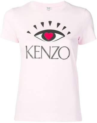 Kenzo pink graphic T-shirt