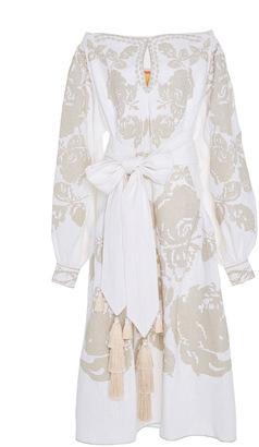 Yuliya Magdych Roses Midi Dress