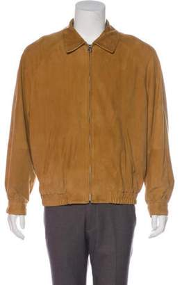 Salvatore Ferragamo Suede Zip Jacket Suede Zip Jacket