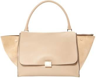 Celine Trapeze Beige Leather Handbag