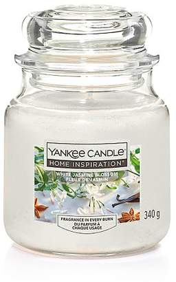 Yankee Candle White Jasmine Blossom Medium Jar