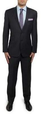 English Laundry Pinstripe Slim-Fit Wool Suit