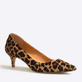 f5d82772429 J.Crew Esme leopard calf hair kitten heels