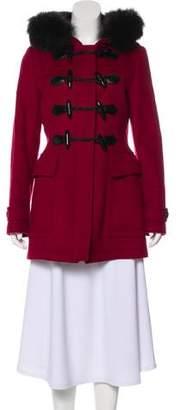 Burberry Fox-Trimmed Wool Coat