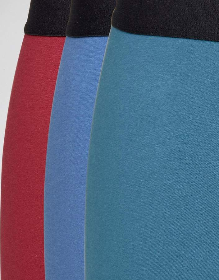 Asos Trunks In Jewel Colours 3 Pack Save