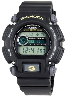 Casio DW9052-1B G-shock 200-meter Water-resistant El-backlit With Afterglow