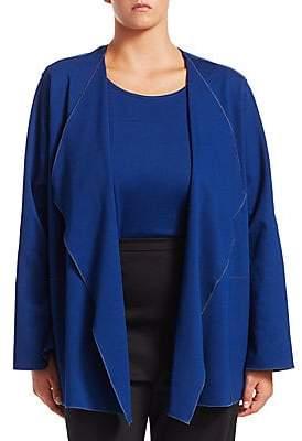 Caroline Rose Women's Plus Blue Becomes You Cardigan& Tank Twin Set