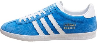 f31d3e4f891 adidas Mens Gazelle OG Trainers Airforce Blue White Metallic Gold