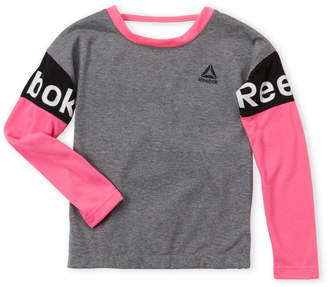 Reebok Girls 7-16) Slit Back Long Sleeve Tee