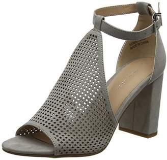 New Look Women's 5536227 Ankle Strap Heels, (Mid Grey 4), 37 EU