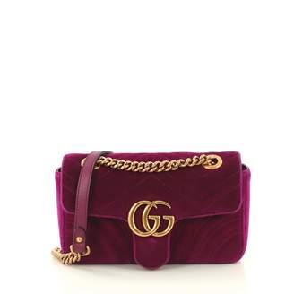 4ba503672c4c5e Gucci Marmont Purple Velvet Handbag