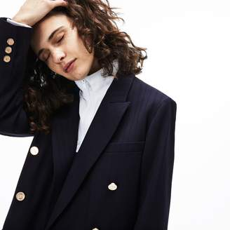Lacoste Women's Oversized Double-Breasted Blazer