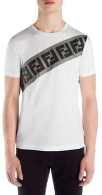 Fendi Cotton Logo Print T-Shirt