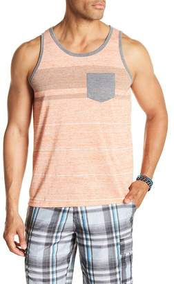Burnside Stripe Contrast Pocket Tank Top