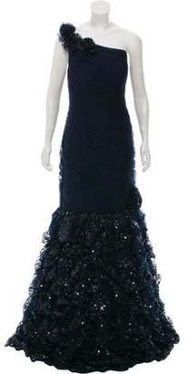 Jovani One-Shoulder Ruched Dress w/ Tags