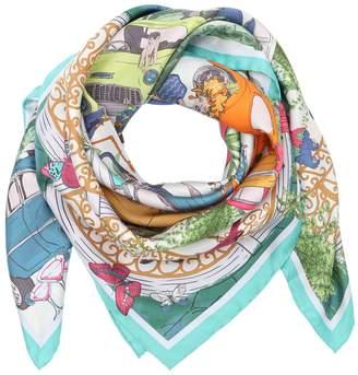 Salvatore Ferragamo Cuba Printed Silk Twill Scarf