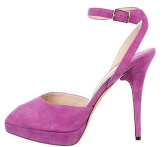 Jimmy Choo Suede Ankle-Strap Sandals Violet Suede Ankle-Strap Sandals