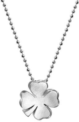 Alex Woo Sterling Silver Luck Clover Bloom Necklace, 16""