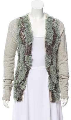 Burning Torch Embellished Knit Cardigan