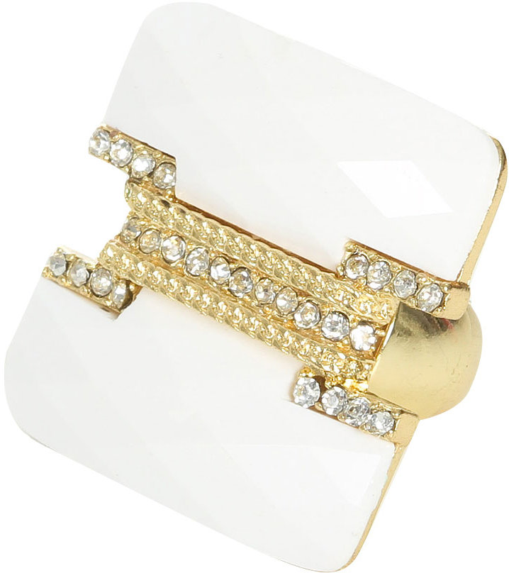 Arden B Embellished Square Stretch Ring