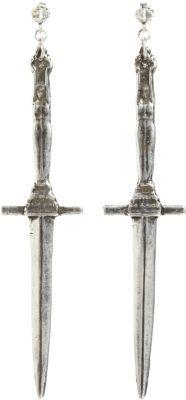 Pamela Love Antique Silver Dagger Earrings