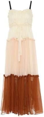 Lee Mathews Celia silk maxi dress