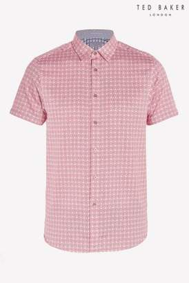 Next Mens Ted Baker Modmo Dot And Circle Print Short Sleeve Shirt