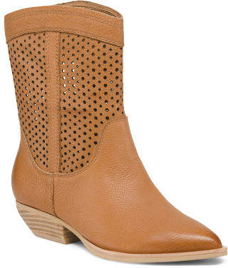 Western Pointy Toe Mid-shaft Boots