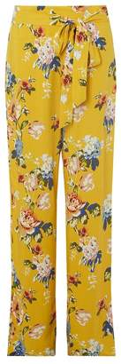 Dorothy Perkins Tall Ochre Floral Print Palazzo Trousers