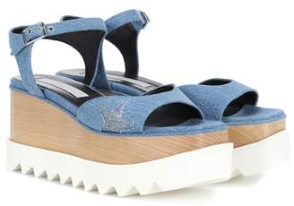Stella McCartney Elyse platform denim sandals