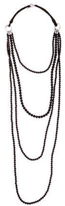 Brunello Cucinelli Garnet Beaded Multistrand Necklace