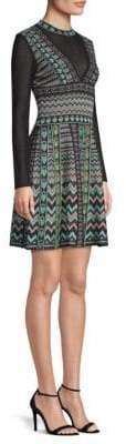 M Missoni Zig-Zag Knit Skater Dress