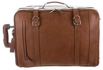 Brunello Cucinelli Leather Rolling Trolley Luggage