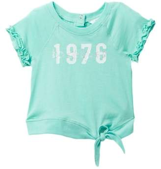 Bebe Tie Front Active Top (Baby Girls)